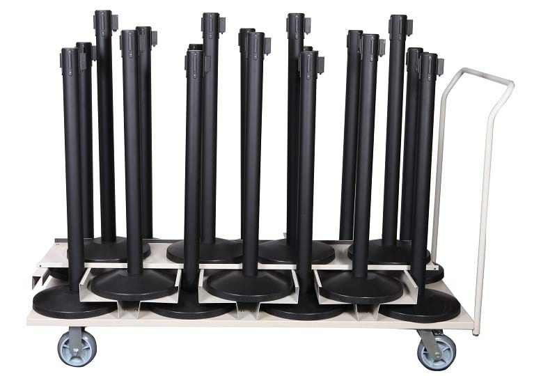 =What is a Stanchion: Posts Storage Cart