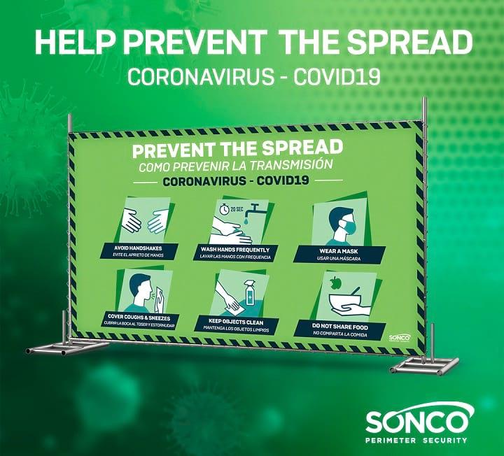 display for prevent coronavirus