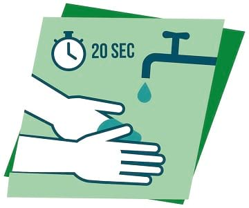wash hands prevent coronavirus job sites