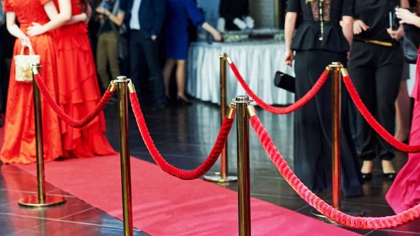 stanchion definition red carpet events