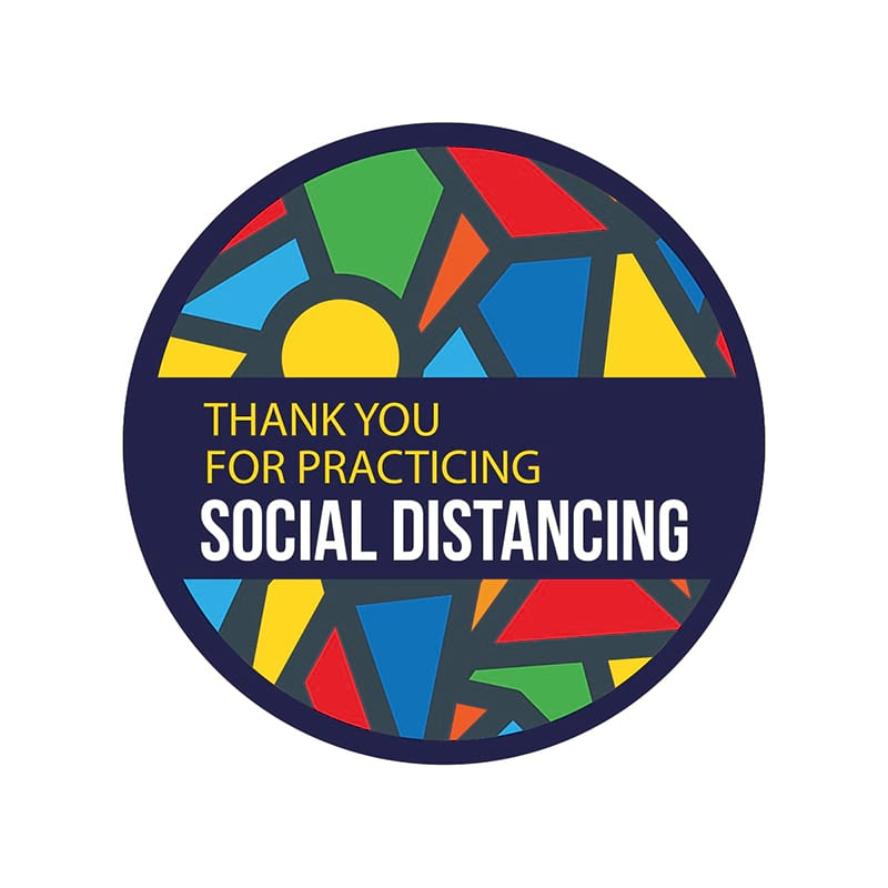 Social Distancing Product Floor Sticker