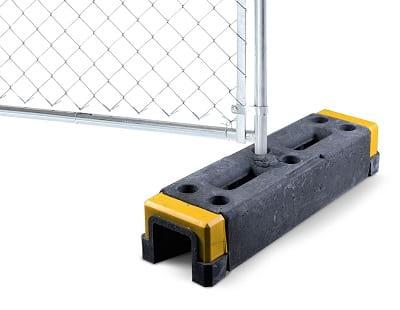 base for fence line