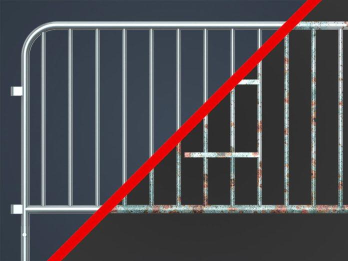 What Does Galvanized Mean? Galvanized vs Non-Galvanized Steel Barricade