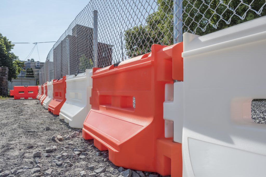 Water Filled Barrier + Fence Topper