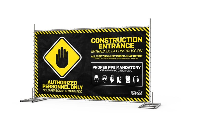 safety screen temporary fence